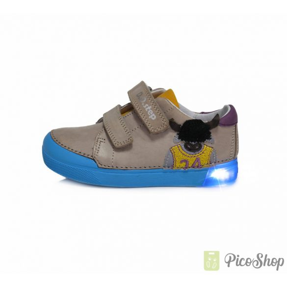 D.D.Step világítós talpú bőrcipő 068-663A