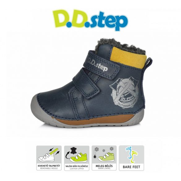 D.D.Step BAREFOOT  bélelt bőrcsizma 070-518